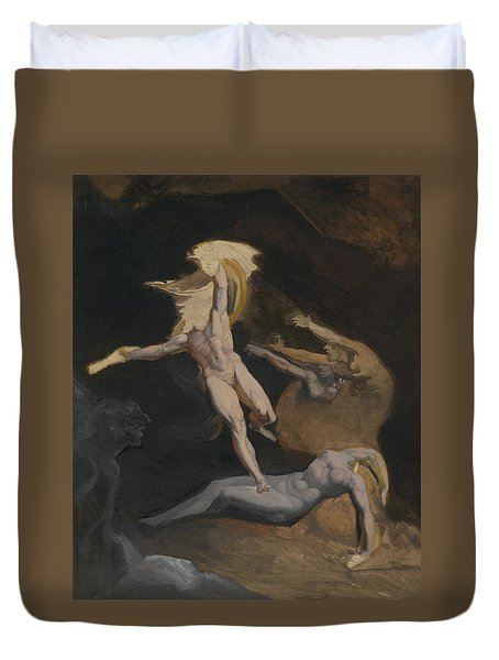Perseus Slaying The Medusa Duvet Cover by Henry Fuseli