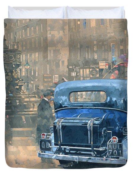 Phantom In Piccadilly  Duvet Cover by Peter Miller