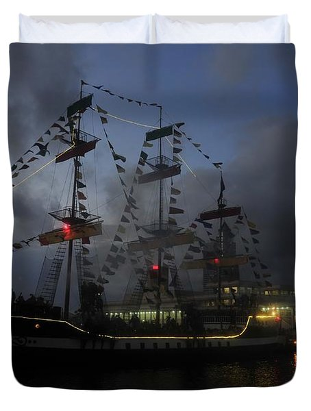 Phantom Ship Duvet Cover by David Lee Thompson