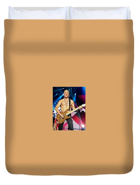 Phil Collen Of Def Leppard 5 Duvet Cover by David Patterson