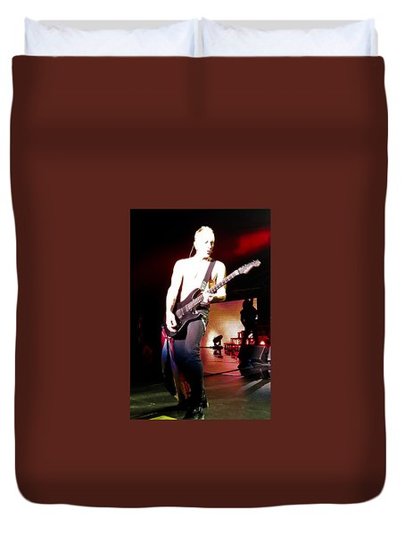 Phil Collen Of Def Leppard 6 Duvet Cover by David Patterson
