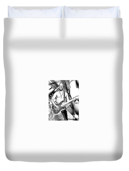 Phil Collen With Def Leppard Duvet Cover by David Patterson