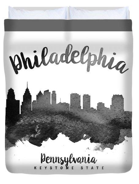 Philadelphia Pennsylvania Skyline 18 Duvet Cover by Aged Pixel