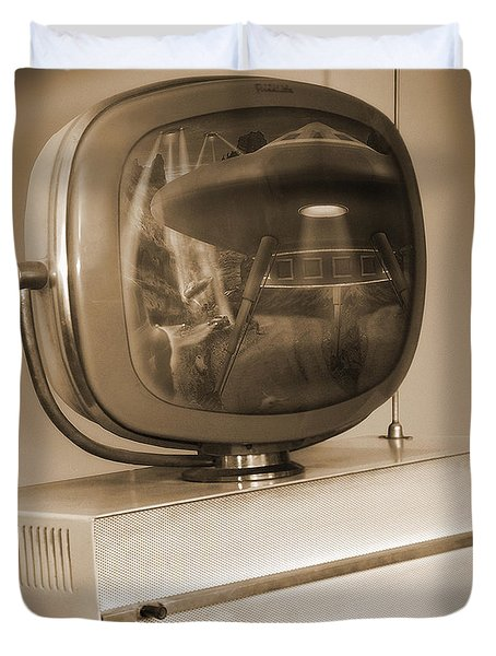 Philco Television  Duvet Cover by Mike McGlothlen
