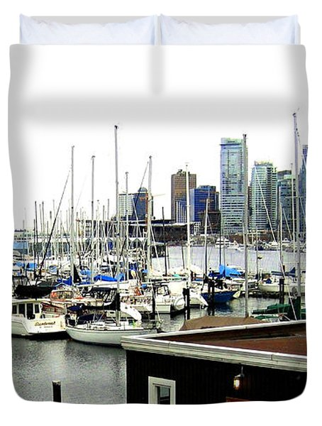 Picturesque Vancouver Harbor Duvet Cover by Will Borden