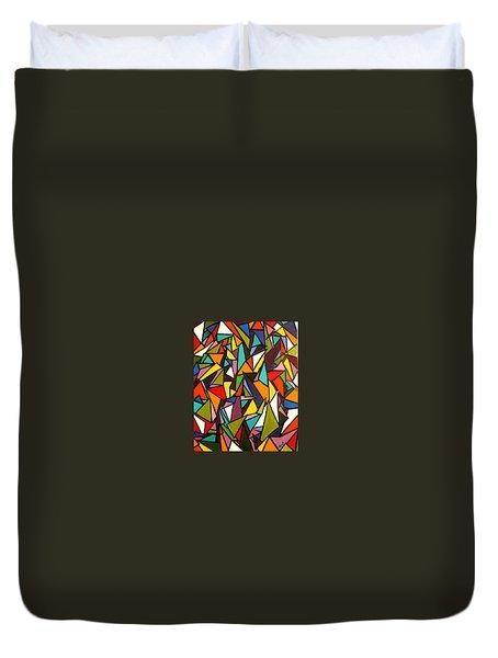 Pieces Duvet Cover by Kerry Bennett
