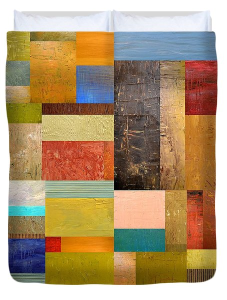 Pieces Project lll Duvet Cover by Michelle Calkins