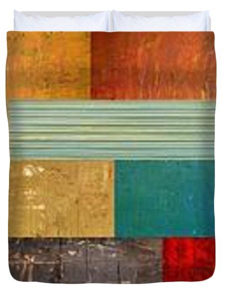 Pieces Project V Duvet Cover by Michelle Calkins