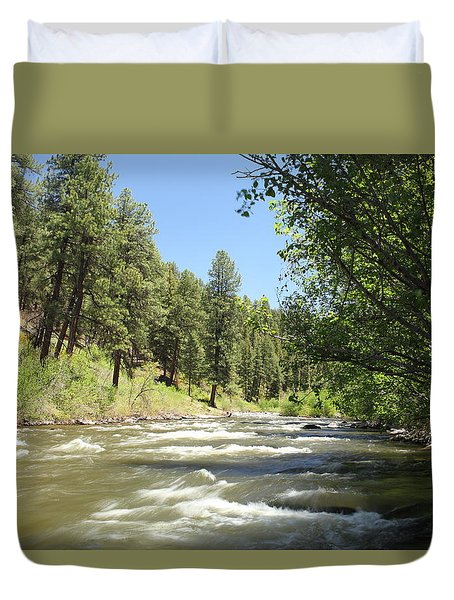 Piedra River Duvet Cover by Eric Glaser