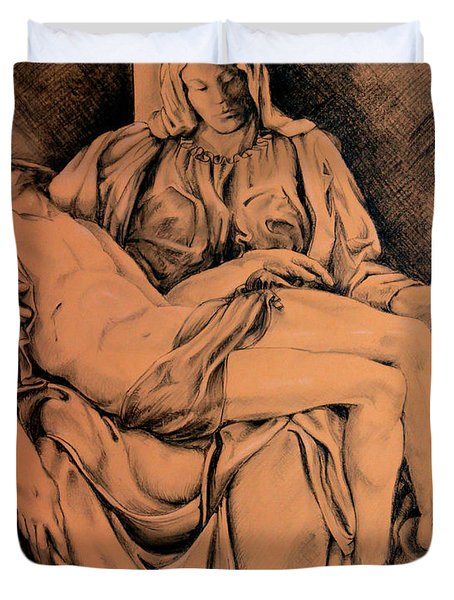 Pieta Study Duvet Cover by Hanne Lore Koehler