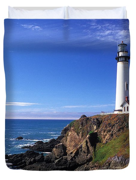 Pigeon Point Lighthouse 2 Duvet Cover by Kathy Yates