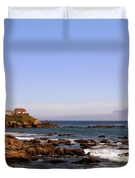 Pigeon Point Lighthouse Ca Duvet Cover by Christine Till