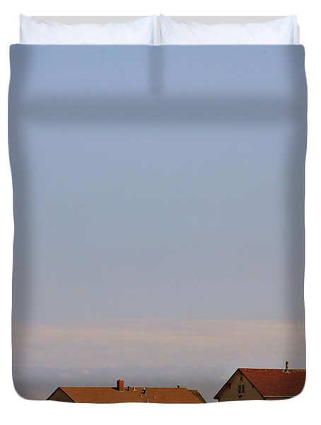 Pigeon Point Lighthouse On California's Pacific Coast Duvet Cover by Christine Till