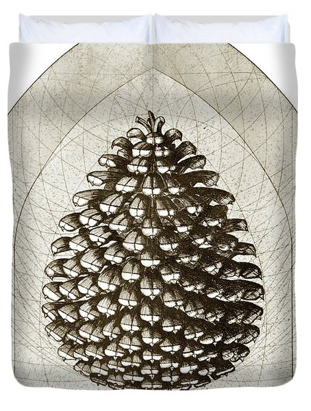 Pinecone Duvet Cover by Charles Harden