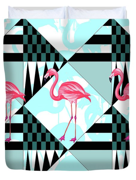 Ping Flamingo Duvet Cover by Mark Ashkenazi