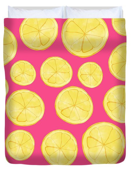 Pink Lemonade Duvet Cover by Allyson Johnson