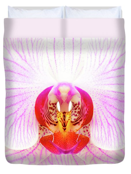 Pink Orchid Duvet Cover by Dave Bowman