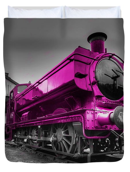 Pink Pannier  Duvet Cover by Rob Hawkins