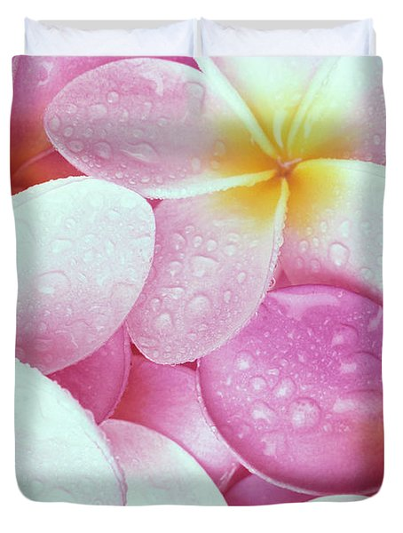 Pink Plumeria Duvet Cover by Carl Shaneff - Printscapes