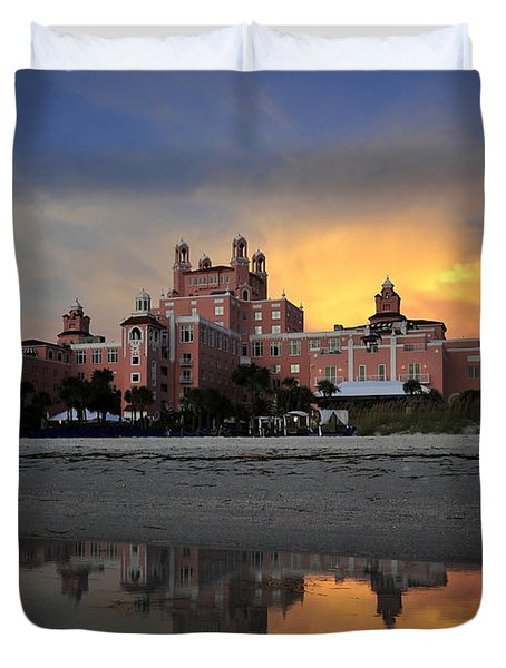 Pink Reflections Duvet Cover by David Lee Thompson