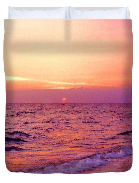 Pink Sunrise Duvet Cover by Kristin Elmquist