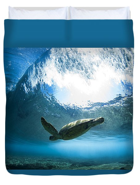 Pipe Turtle Glide Duvet Cover by Sean Davey