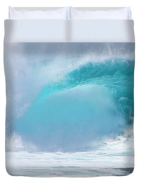 Pipeline First Reef Duvet Cover by Kevin Smith