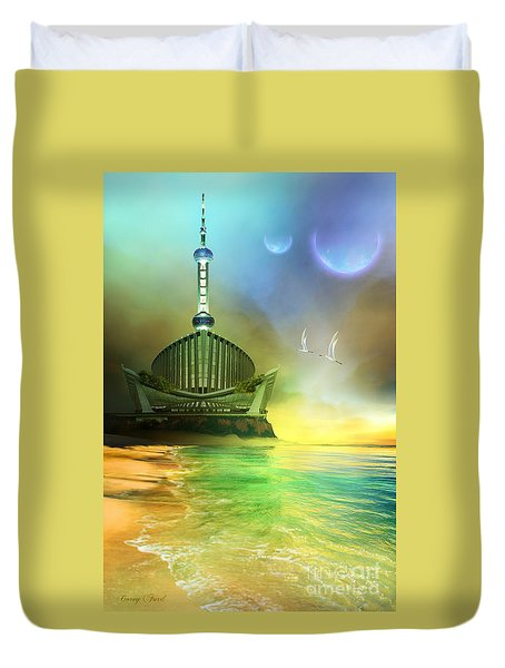 Planet Paladin Duvet Cover by Corey Ford
