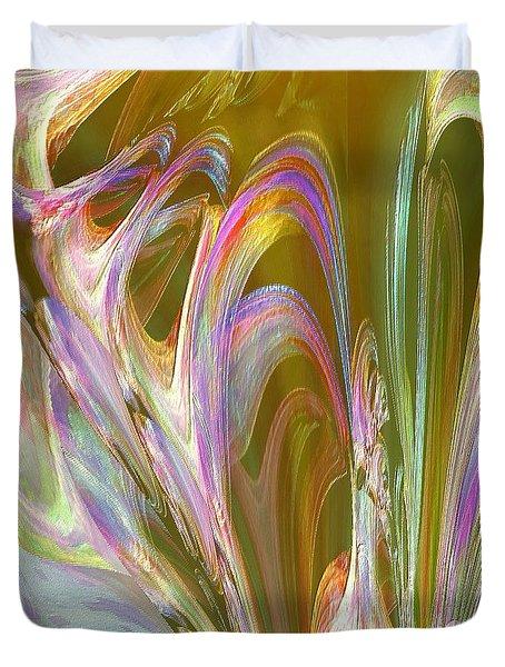 Plasma Flow Duvet Cover by Michael Durst