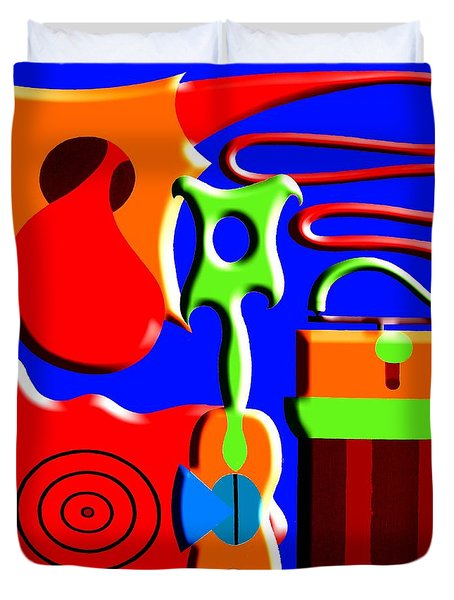 Playing Music Duvet Cover by Patrick J Murphy
