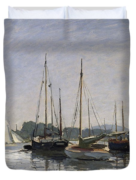 Pleasure Boats Argenteuil Duvet Cover by Claude Monet