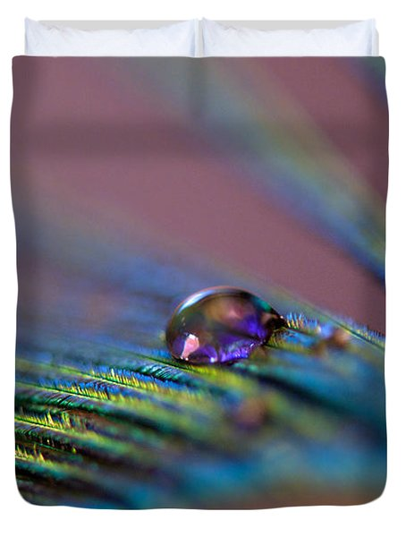 Plum Heart Duvet Cover by Lisa Knechtel