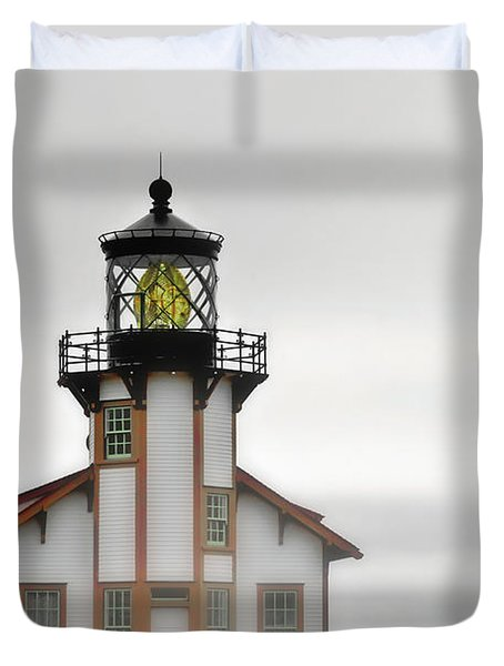 Point Cabrillo Light Station - Mendocino CA Duvet Cover by Christine Till