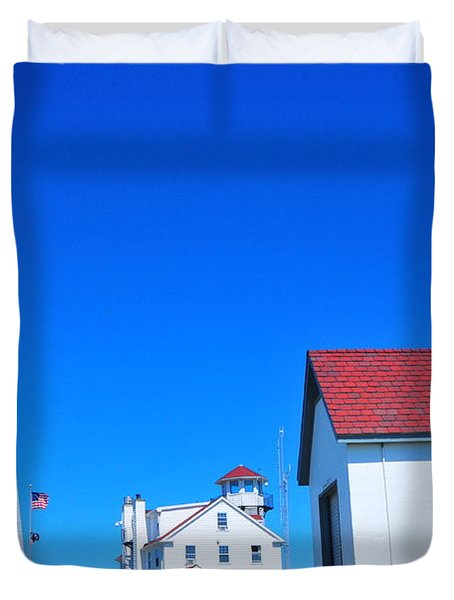Point Judith Light Duvet Cover by Catherine Reusch  Daley