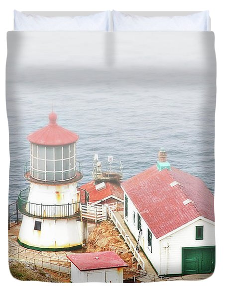 Point Reyes Lighthouse at Point Reyes National Seashore CA Duvet Cover by Christine Till