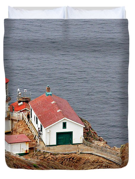 Point Reyes Lighthouse Ca Duvet Cover by Christine Till