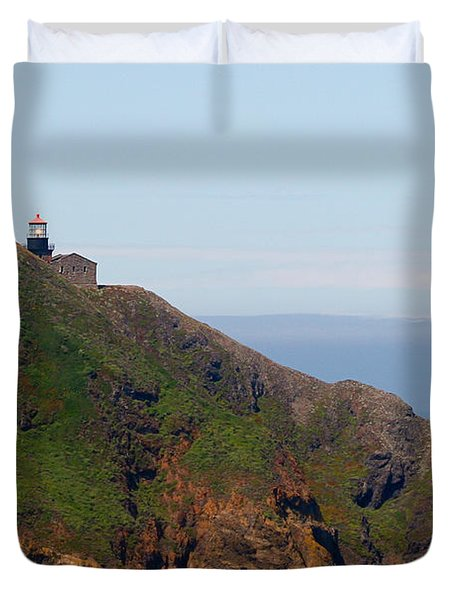 Point Sur Lighthouse Ca  Duvet Cover by Christine Till