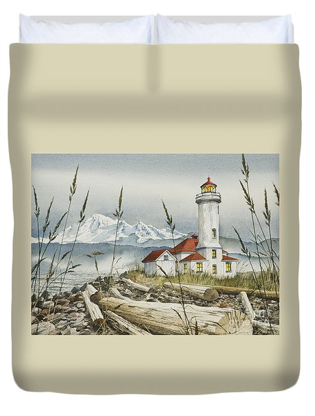 Point Wilson Lighthouse Duvet Cover by James Williamson
