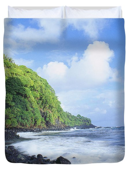 Pokupupu Point Duvet Cover by Peter French - Printscapes