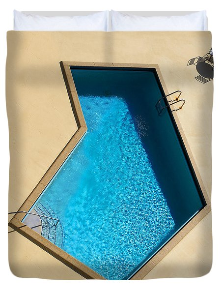 Pool Modern Duvet Cover by Laura Fasulo