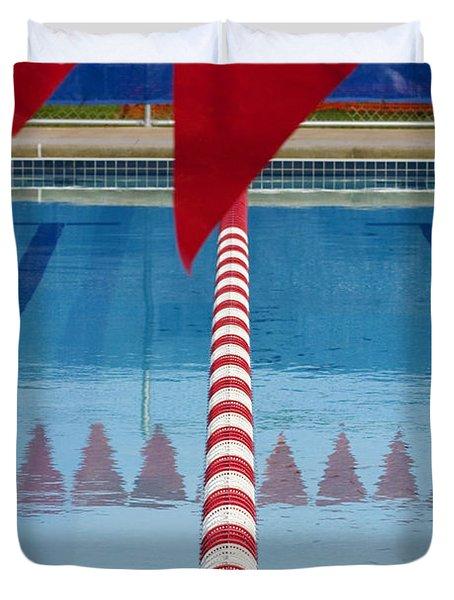 Pool Duvet Cover by Skip Hunt