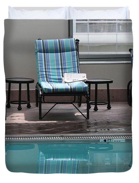 Pool Time Duvet Cover by Lauri Novak