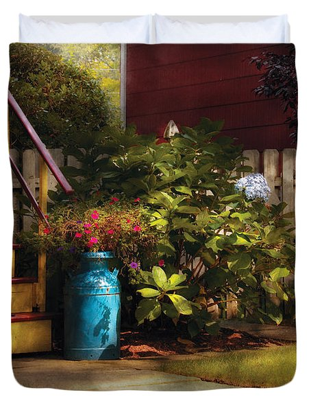 Porch - Summer Retreat Duvet Cover by Mike Savad