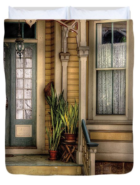 Porch - House 109 Duvet Cover by Mike Savad