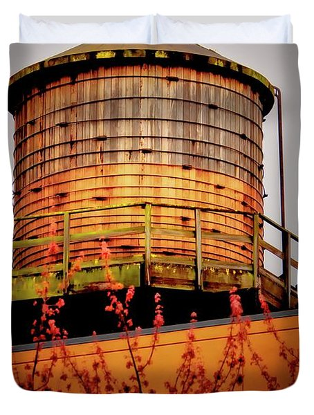 Portland Water Tower IIi Duvet Cover by Albert Seger