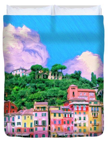 Portofino Duvet Cover by Dominic Piperata