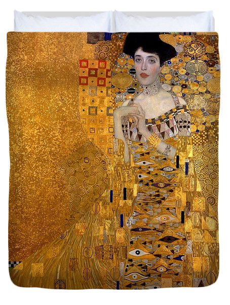Portrait Of Adele Block-bauer Duvet Cover by Gustav Klimt