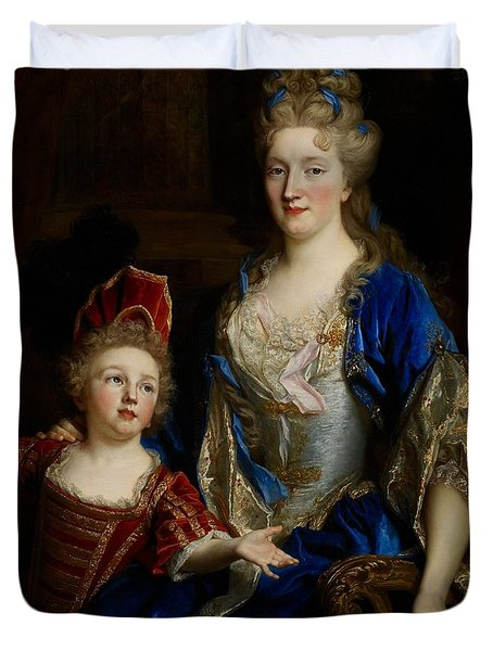 Portrait Of Catherine Coustard Duvet Cover by Nicolas de Largilliere