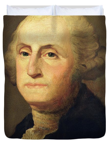 Portrait Of George Washington Duvet Cover by Gilbert Stuart