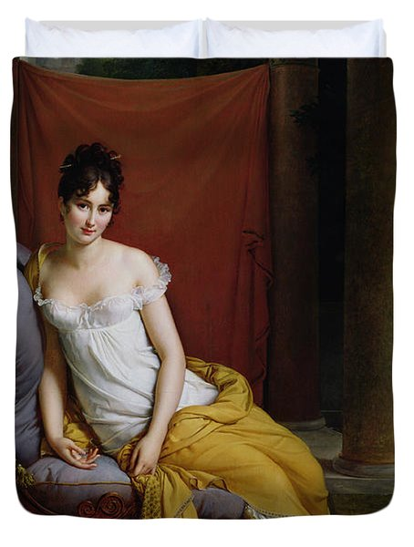 Portrait Of Madame Recamier Duvet Cover by Francois Pascal Simon Gerard